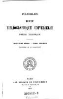 Polybiblion  Revue bibliographique universelle PDF