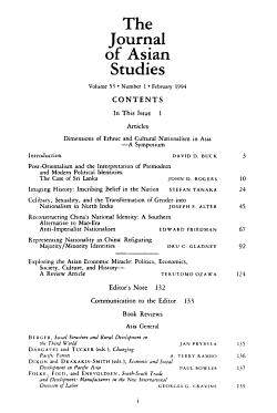 The journal of Asian studies PDF