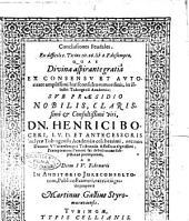 Conclusiones feudales, ex difficili c. Titius, tit. 26. lib. 2. F. desumptae, quas ... sub praesidio ... Henrici Boceri, ... ad diem 4. Februarii ... publico examini, exercitii gratia proponit Martinus Gallius Styromuraviensis