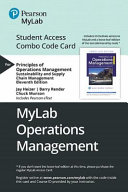 Principles of Operations Management Mylab Operations Management Combo Access Card PDF