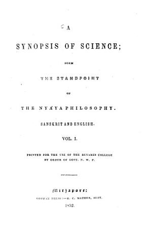A Synopsis of Science  from the Standpoint of the Nyaya Philosophy PDF