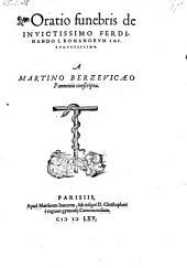 Oratio funebris de Ferdinando I. Romanorum imperatore
