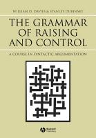 The Grammar of Raising and Control PDF