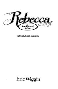 Rebecca Returns to Sunnybrook