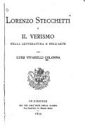 Lorenzo Strecchetti  pseud  for Olindo Guerrini   or Il verismo nella letteratura e nell arte PDF