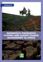 Indigenous knowledge systems and climate change management in Africa PDF