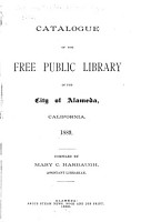 Catalogue of the Free Public Library of the City of Alameda  California  1889 PDF