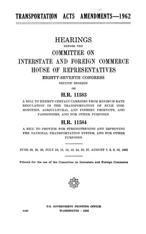 Transportation Acts Amendments  1962