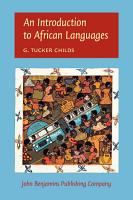 An Introduction to African Languages PDF