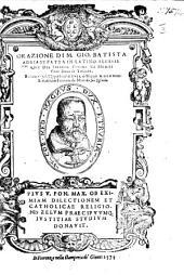 Orazione M. G. B. Adriani fatta ... all'essequie del Sereniss. Cosimo de Medici ... Tradotta ... da Marcello suo figliuolo
