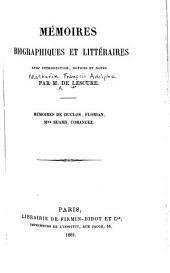 Mèmoires biographiques et littéraires
