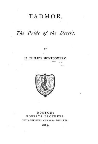 Tadmor  the Pride of the Desert PDF