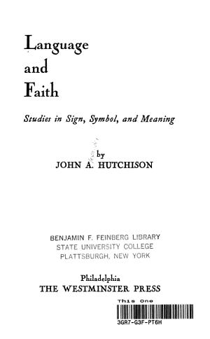 Language and Faith