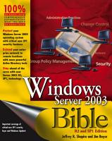 Windows Server 2003 Bible PDF
