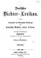 Deutsches Dichter Lexikon0 PDF