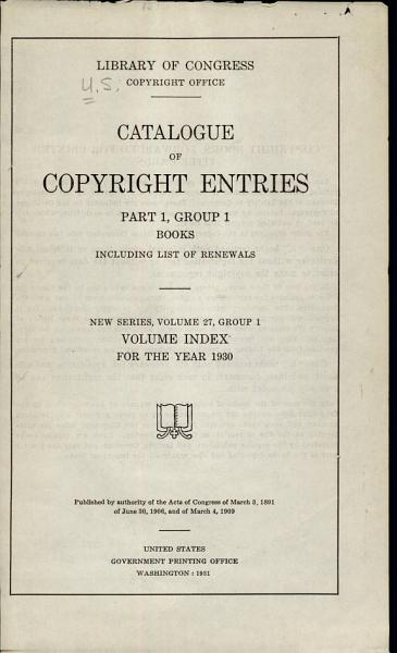 Download Catalog of Copyright Entries  New Series Book