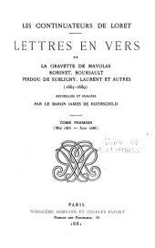 Les continuateurs de Loret: Mai 1665-juin 1666