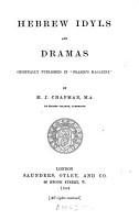Hebrew Idyls and Dramas PDF