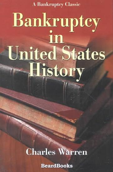Bankruptcy in United States History PDF