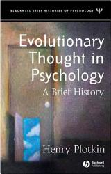 Evolutionary Thought In Psychology Book PDF