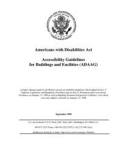Americans With Disabilities Act: Accessibility Guidelines for Buildings & Facilities Cadaag