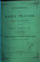 Suggestions for Daily Prayer  A reprint     With a prefatory note by     C  J  Brown PDF
