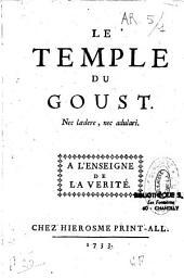 Le temple du goust...