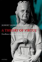 A Theory of Virtue PDF