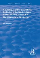 A Catalogue of the Shaw Hellier Collection PDF