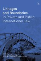 Linkages and Boundaries in Private and Public International Law PDF