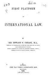 First Platform of International Law
