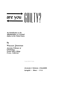 Are You Guilty  PDF