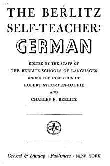 The Berlitz Self teacher  German PDF
