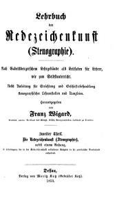 Lehrbuch der Redezeichenkunst (Stenographie)