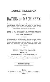 Local Taxation and the Rating of Machinery...
