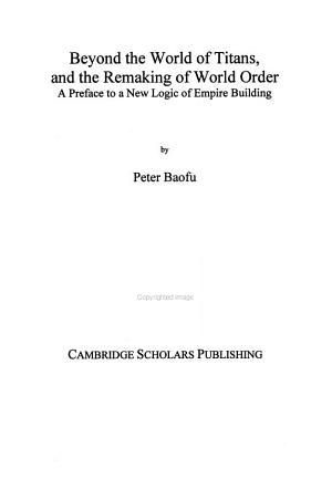 Beyond the World of Titans  and the Remaking of World Order PDF