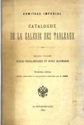 Catalogue de la Galerie des tableaux: Écoles néerlandaises et école allemande