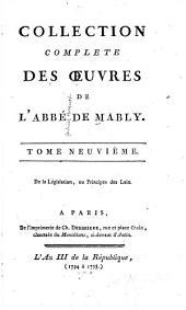 Collection complète des œuvres de l'abbé de Mably: Volume9