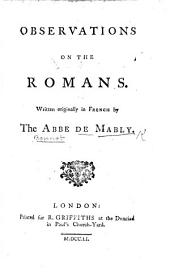Observations on the Romans. Written originally in French