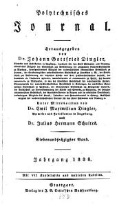 Polytechnisches Journal: Band 67