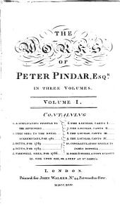 The Works of Peter Pindar, Esq: Volume 1