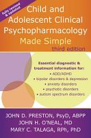 Child and Adolescent Clinical Psychopharmacology Made Simple PDF