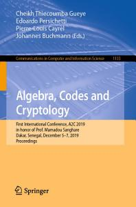 Algebra  Codes and Cryptology PDF