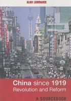 China Since 1919 PDF