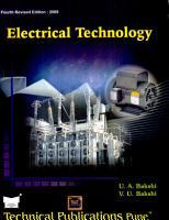 Electrical Technology PDF