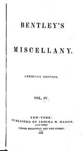 Bentley's Miscellany: Volume 4
