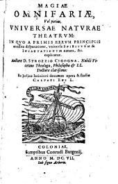 Magiae omnifariae theatrum