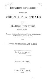Reports of Cases Decided in the Court of Appeals of the State of New York: Volume 134