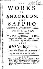 The works of Anacreon and Sappho: done from the Greek, by several hands