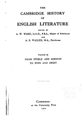 The Cambridge History of English Literature: From Steele and Addison to Pope and Swift